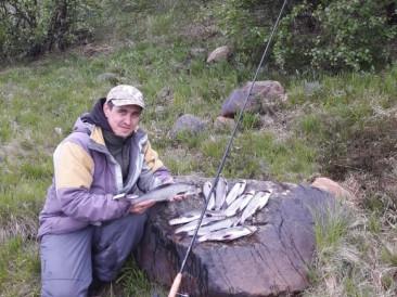 рыбалка на хариуса на реке Поной