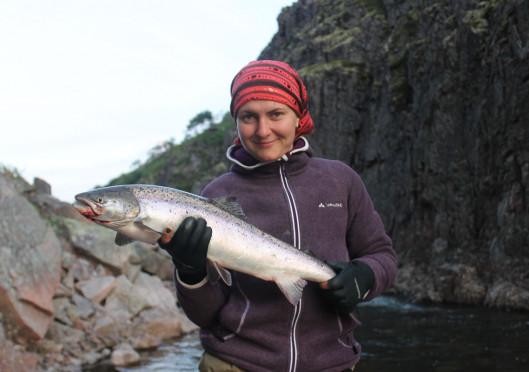 Рыбалка на семгу на реке Зарубиха