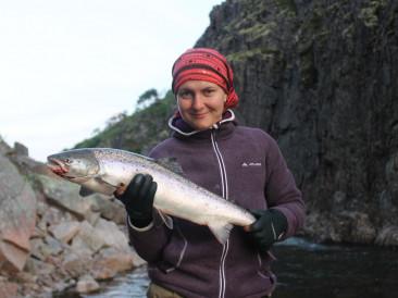 рыбалка на лосося на реке Зарубиха